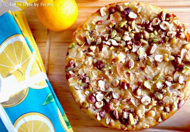 Nutty Citrus & Ricotta Cake