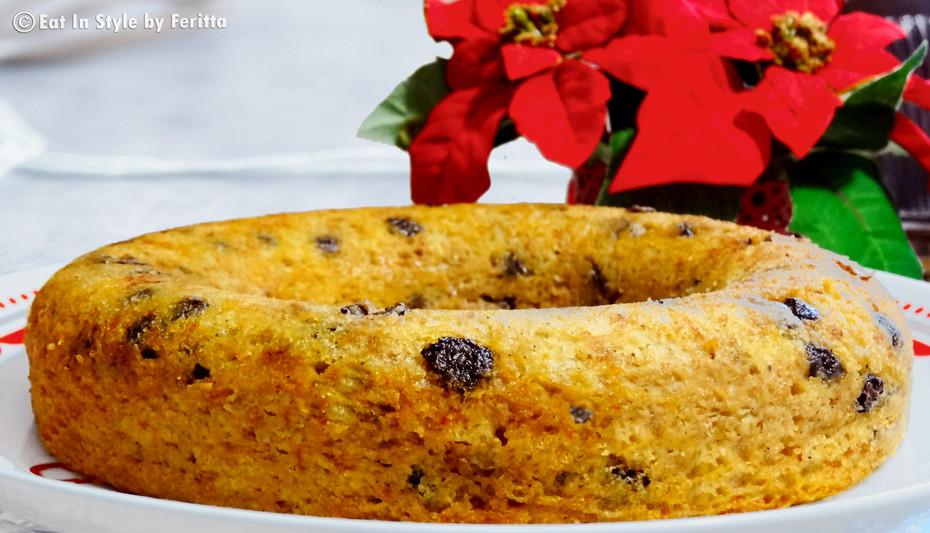 Gluten-Free Banana & Choc-Chip Cake