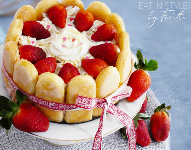 Strawberry Charlotte with Chantilly Cream