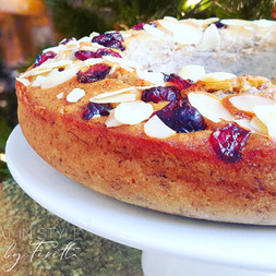 Almond & Cranberry Wreath Cake