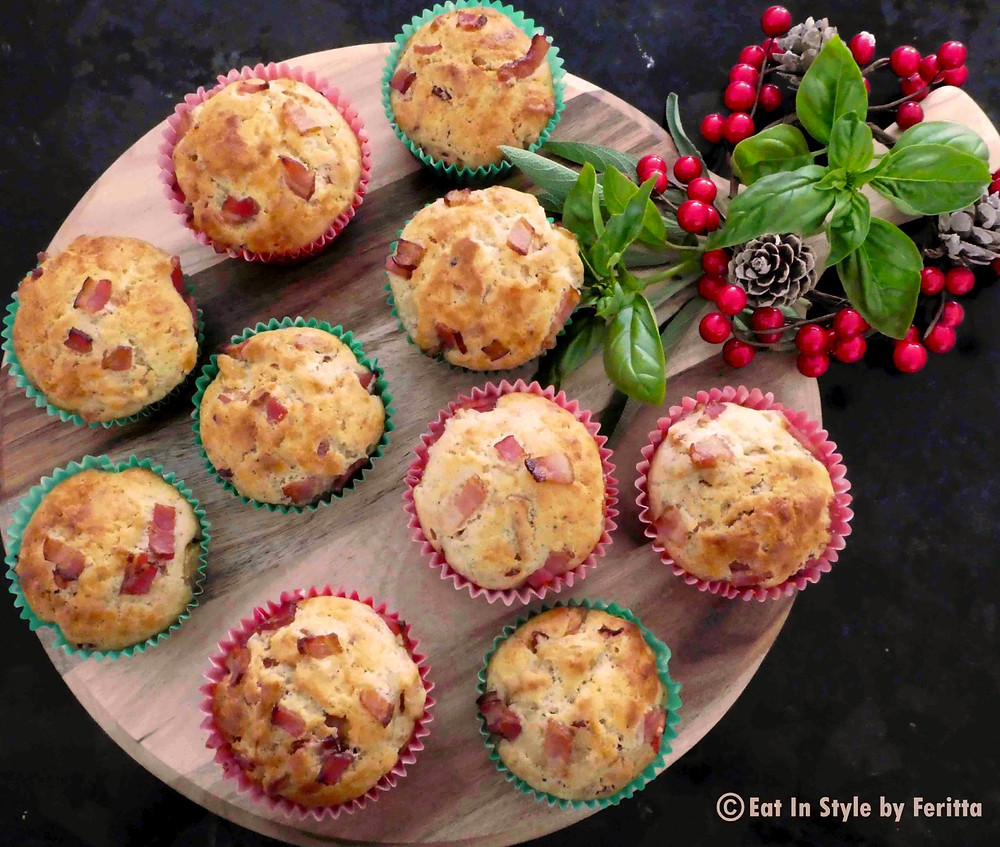 Maple Bacon & Cheese Apple Muffins | Eat In Style by Feritta