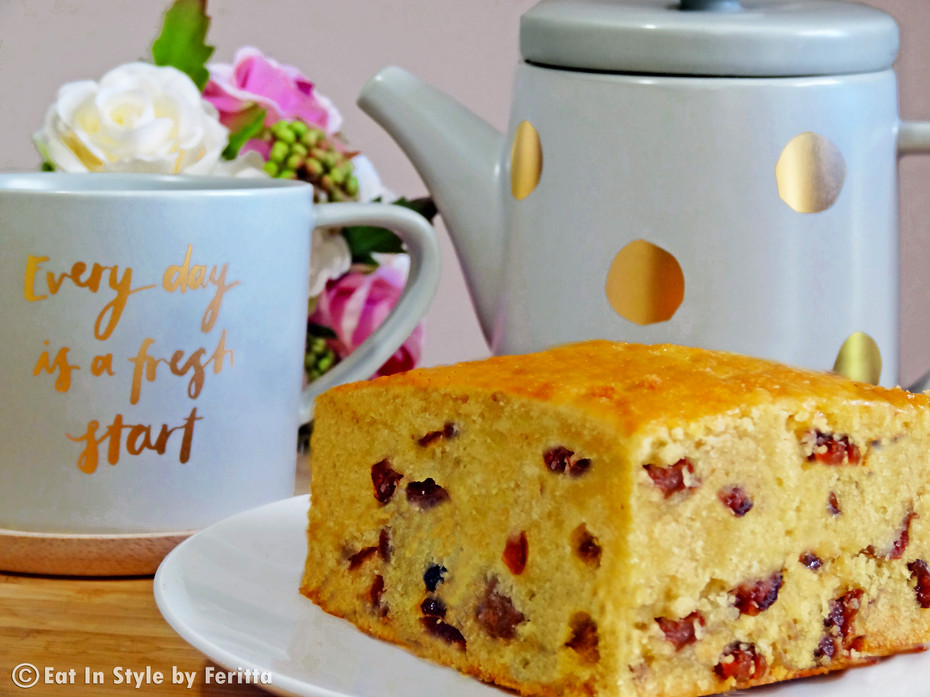 Cranberry & Sultana Butter Cake