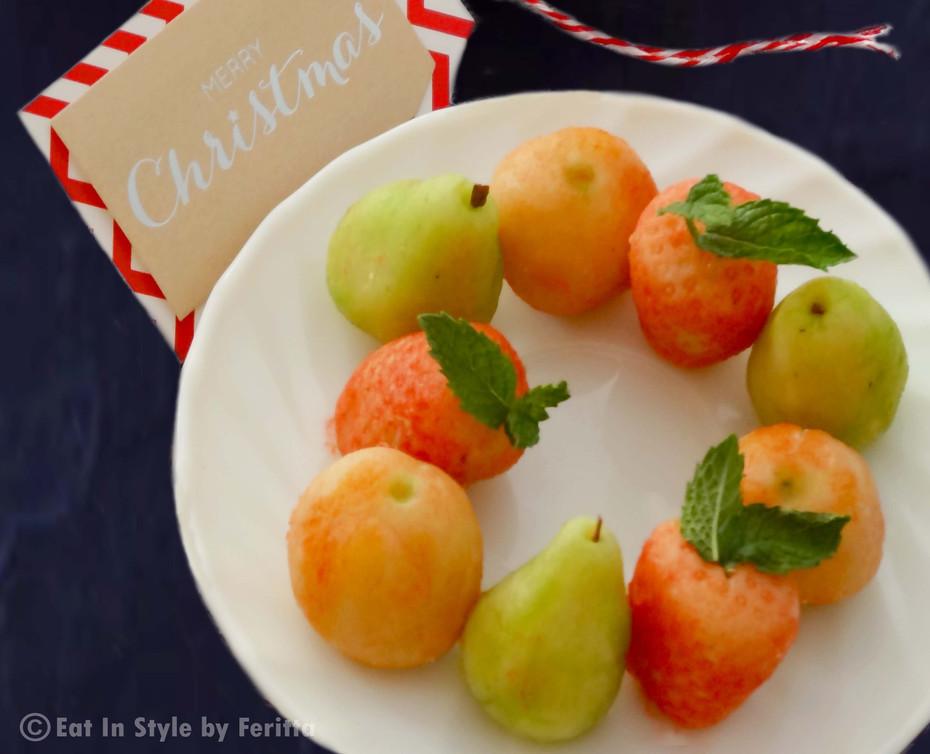 Homemade Marzipan Fruits