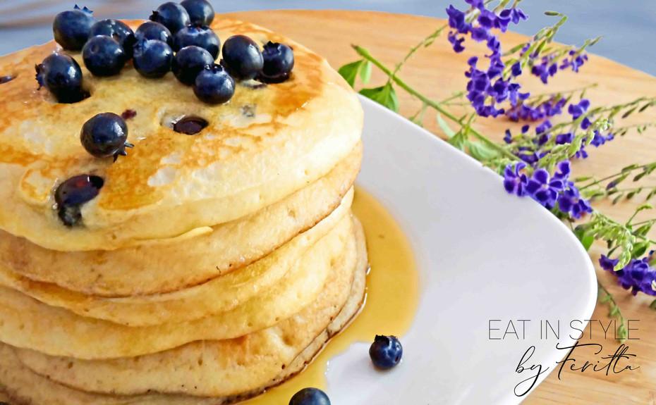 World's Best Blueberry Spelt Pancakes