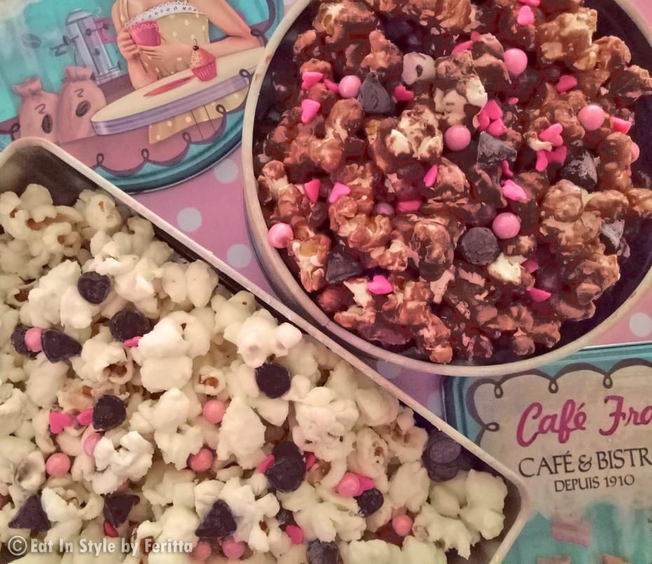 Chocolate Popcorn Treats