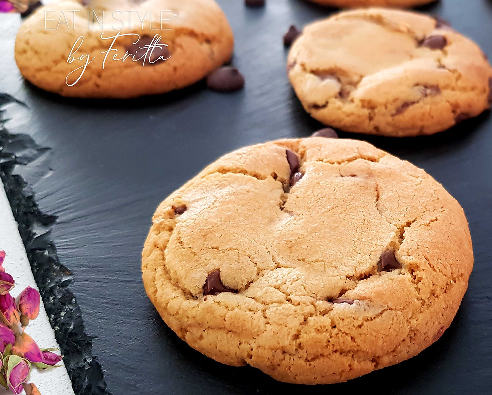 Best Spelt Choc Chip Cookies | Eat In Style by Feritta