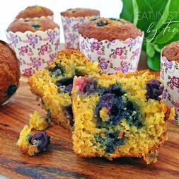 Orange & Blueberry Spelt Muffins