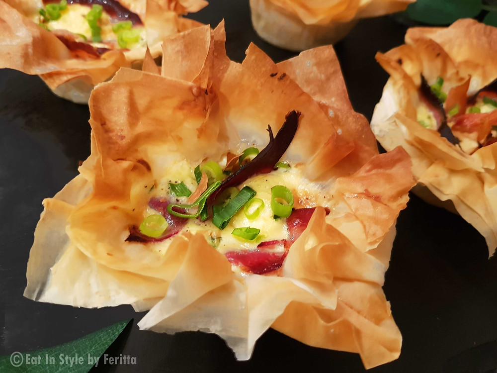 Filo Goats Cheese Tarts | Eat In Style by Feritta