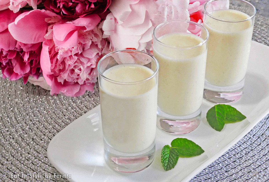 Coconut and White Chocolate Mousse Shots