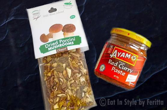 Porcini Mushrooms & Ayam Curry Paste