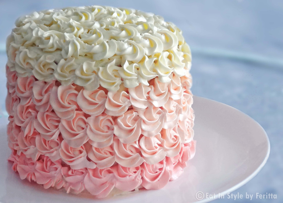 Strawberry Scented Ombre Cake
