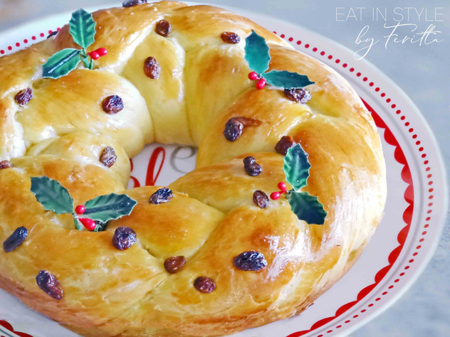 Brioche Christmas Wreath