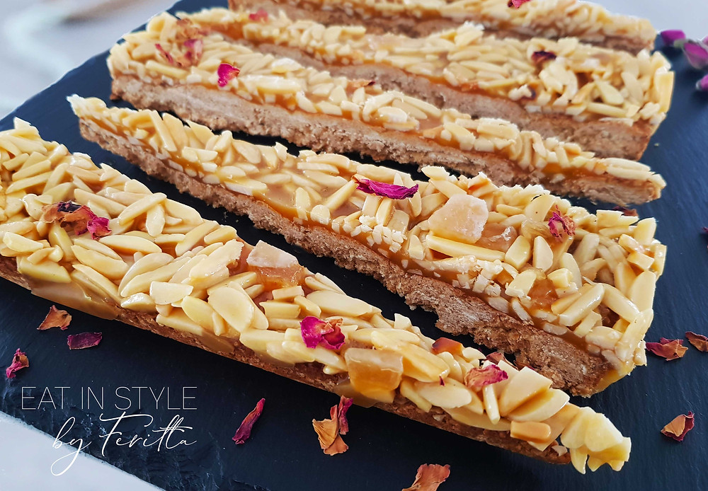 Wholesome Honey and Almond Slice | Eat In Style by Feritta