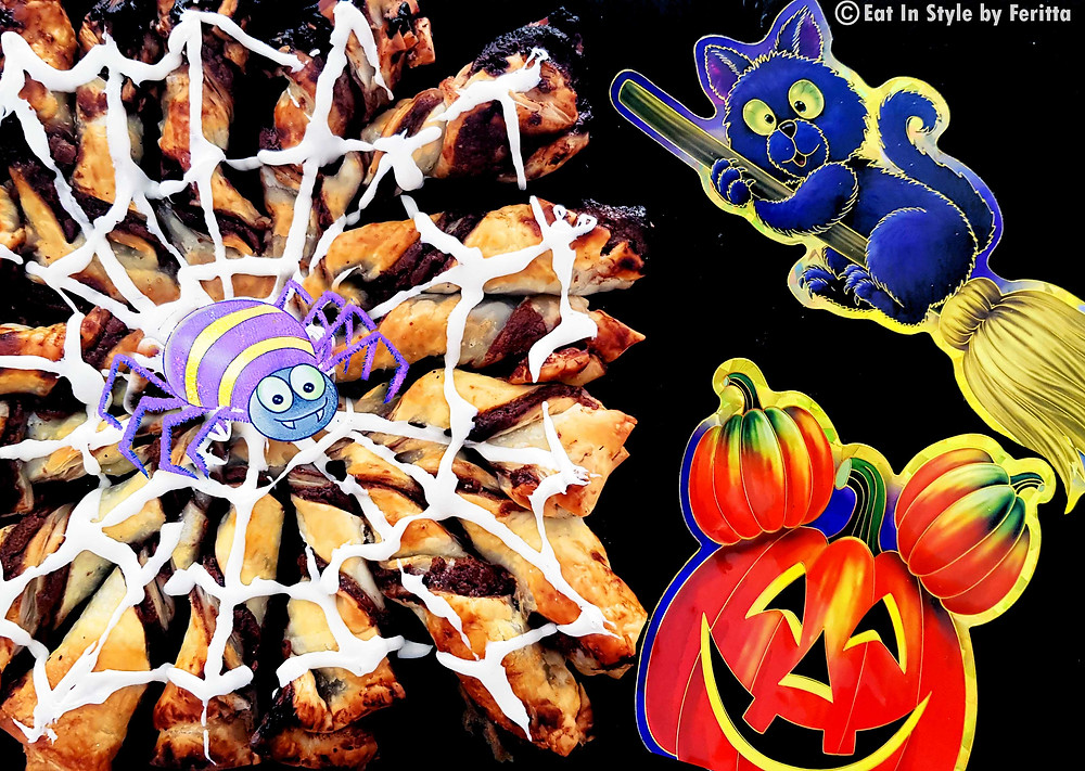 Halloween Spider's Web Pastry | Eat In Style by Feritta