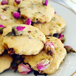 Cranberry Ginger & Pistachio Cookies