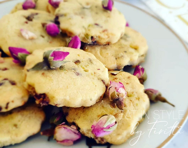 Cranberry Ginger & Pistachio Cookies