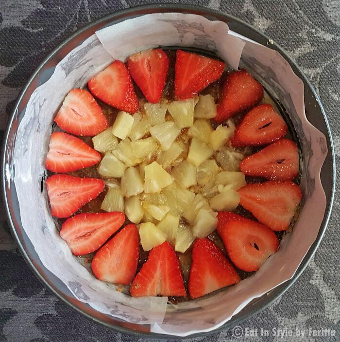 Strawberry Spelt Cake Top