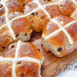 Blueberry & Orange Hot Cross Buns