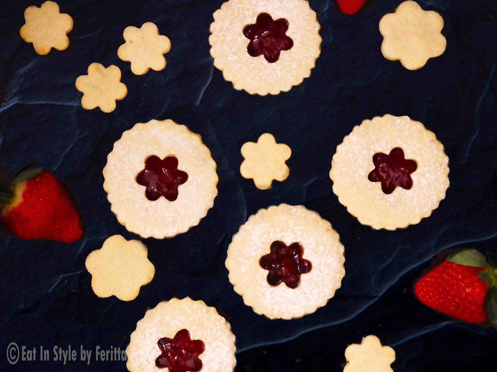 Strawberry & Chamomile Jam Biscuits