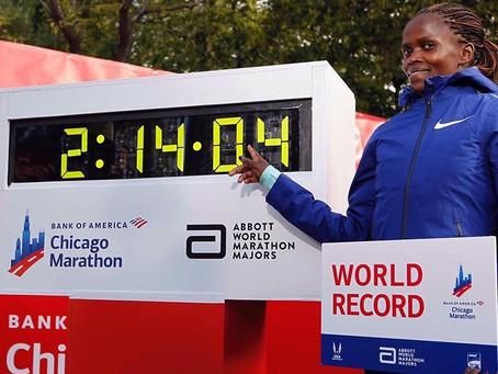 Brigid Kosgei bate Recorde Mundial na Maratona de Chicago, 02:14:04