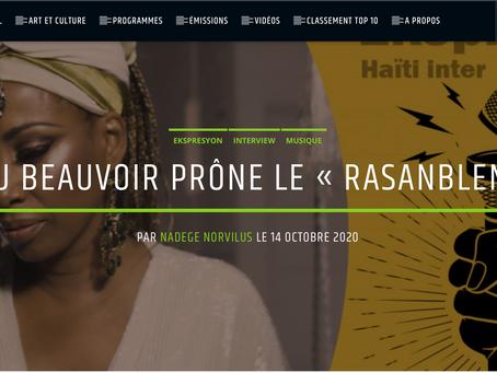 """Malou Beauvoir prone le """"Rasanbleman"""" (Ekspresyon) Haiti Inter Interview"""