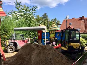 Bau unseres neuen Kita-Spielplatzes
