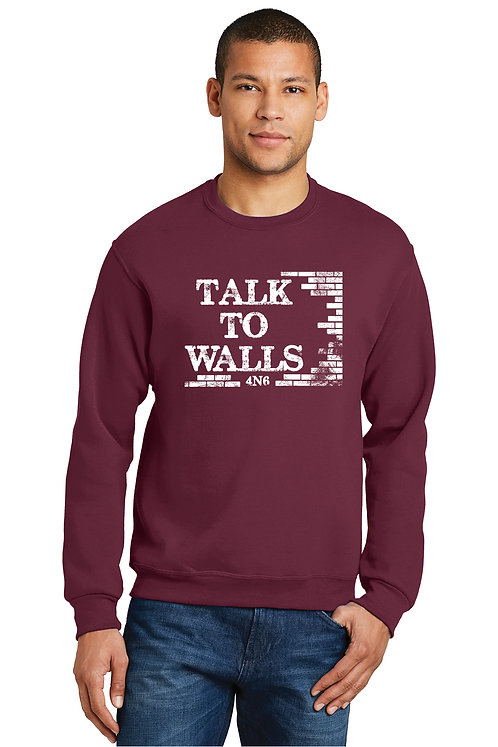 Unisex Crew Sweatshirt - 562M - Talk to Walls