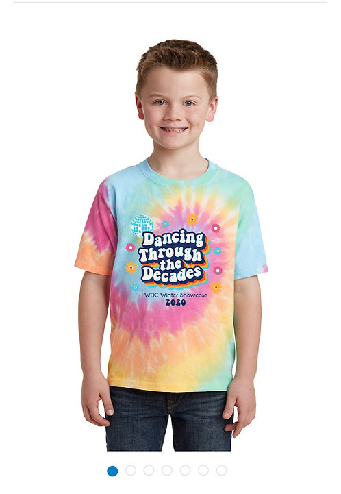 Winter Youth & Adult Tie-Dye tshirt