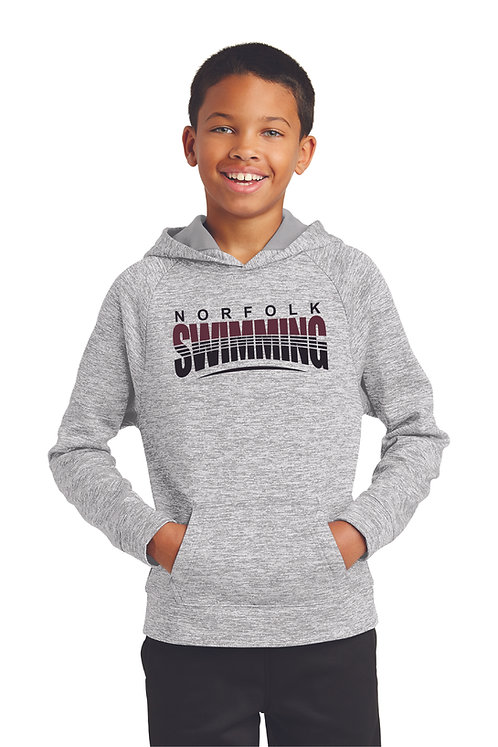 Youth Sport Tek Electric Heather Hoodie - YST255
