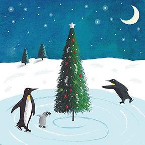 Christmas pengiuns