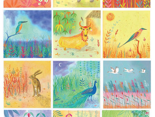 Finished range of 12 cards for the Almanac Gallery - Indian Summer, being launched April 2015