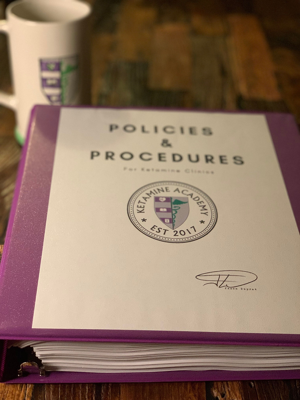 Ketamine Practice Policies and Procedures Manual bt Ketamine Academy | KetamineAcademy.com