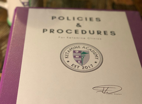 Why Your Ketamine Clinic Needs A Detailed Policies and Procedures Manual