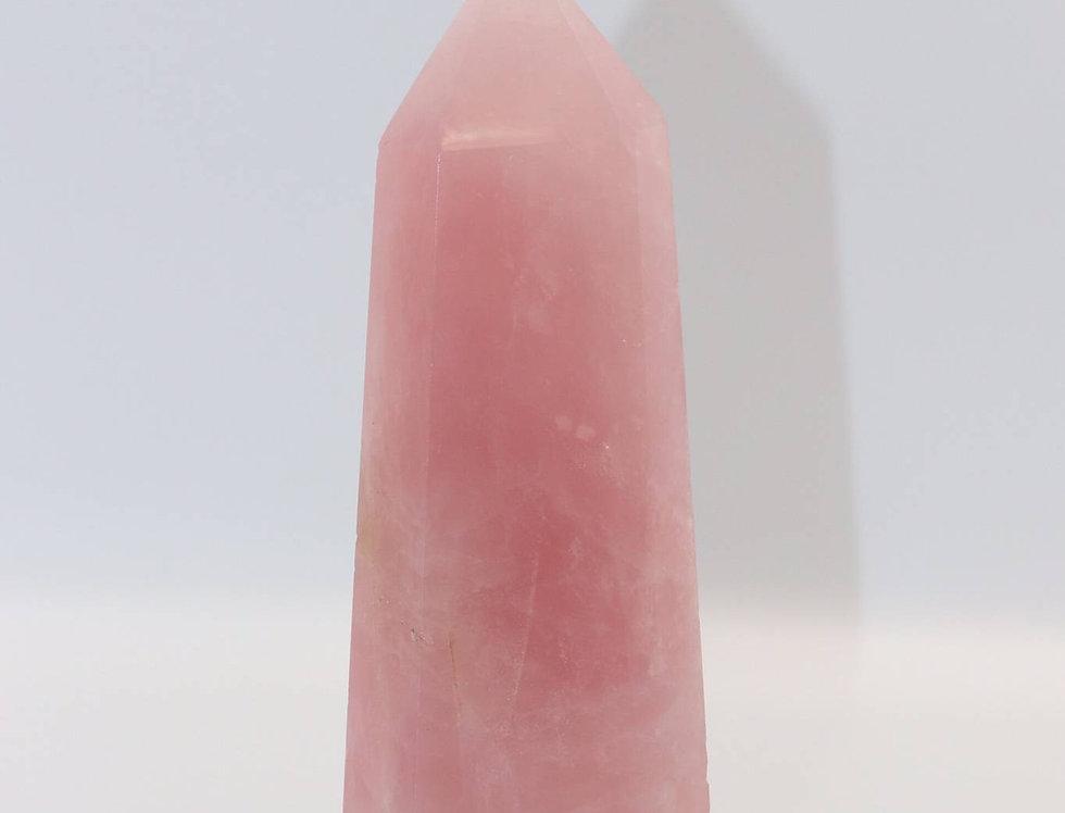天然クリスタル ローズクォーツ(H18.5㎝)
