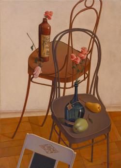 Натюрморт с венскими стульями