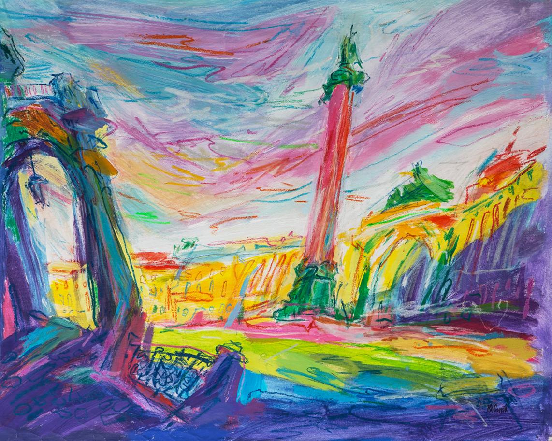 Дворцовая площадь.Закат