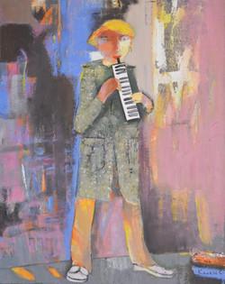 Играющий на гармонике,х.м.,2014