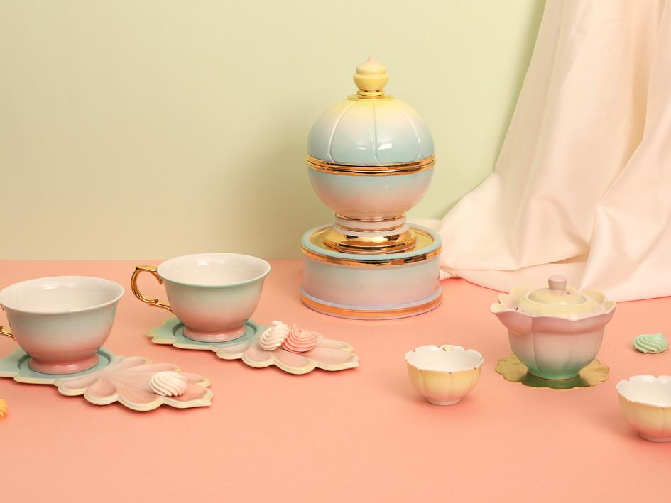 Lotus Teapot set with Candybowl
