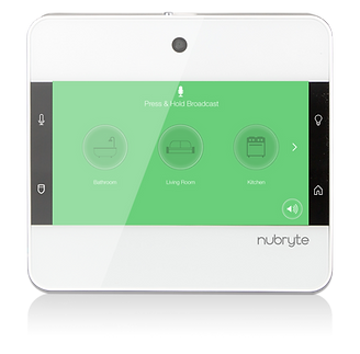 The NuBryte Touchpoint smart home intrcome system screen.