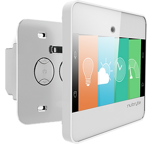 Dual switch NuBryte smart home automation device.