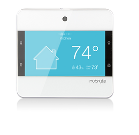 The NuBryte Touchpoint smart home automation system.
