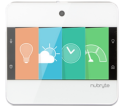 The NuBryte Touchpoint all-in-one smart home automation.