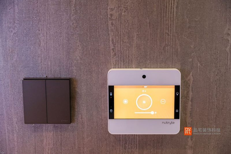 NuBryte wall mounted and installed within a light switch box