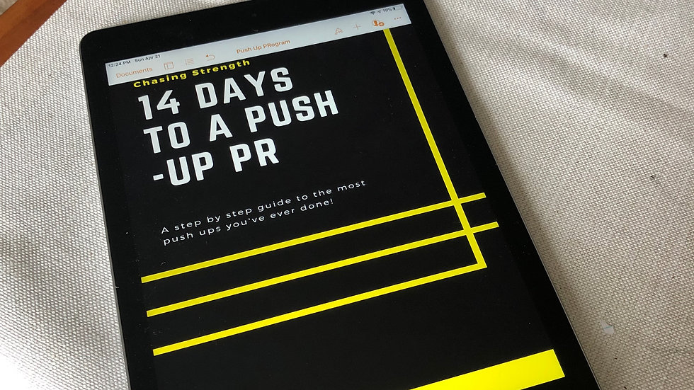 14 Days To A Push-Up PR