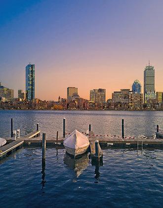 Boston Sunset: 11x14
