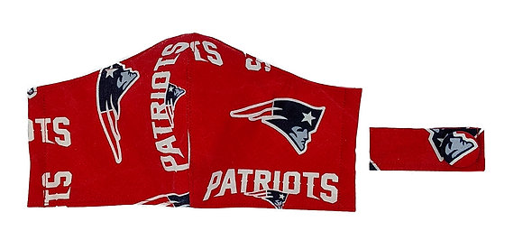 Patriots Fitted Mask -Red