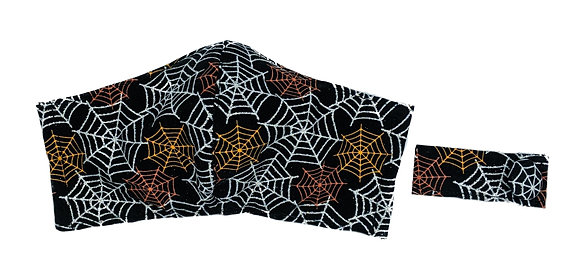 Glitter Web Fitted Mask