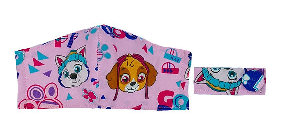Paw Patrol Pink Fitted Mask