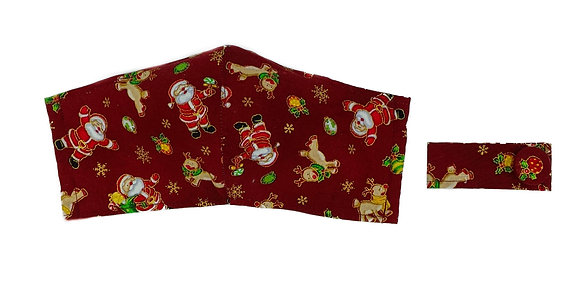 Santa & Rudolph Fitted mask