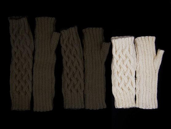White Fingerless Gloves-Short
